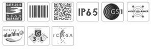 Datalogic PowerScan PD9500-RT 2D Mobile Barcode Scanner
