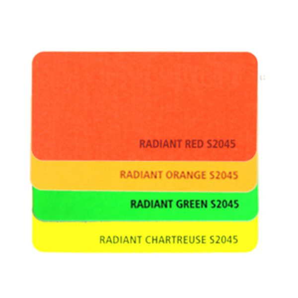 Day-glo-labels